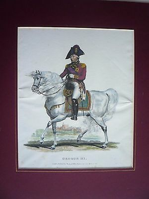 "Antique Print Dated 1816."" George Iii ""  Rare."