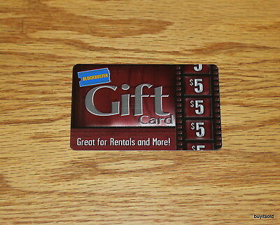 Lot of 2 Rare & Collectible Blockbuster Gift Card - $5 - NO VALUE on Cards