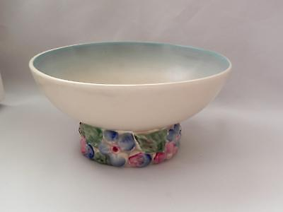 VINTAGE **CLARICE CLIFF** Hand Painted *My Garden* Pedestal BOWL - Lovely