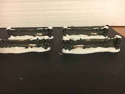 Holly Split Rail Fence # 52722, set of 4, Department 56 Village accessory