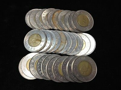 LOT of 30 Canadian TOONIE $2.00 Coins $60.00 Face
