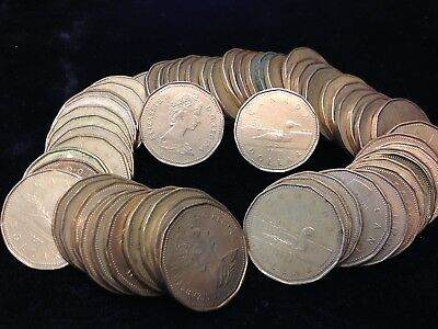 LOT of 60 Canadian LOONIE $1.00 Coins