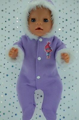 """Play n Wear Doll Clothes To Fit 17"""" Baby Born LILAC SNOWSUIT"""