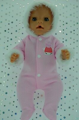 """Play n Wear Doll Clothes To Fit 17"""" Baby Born PINK SNOWSUIT"""