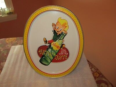 """SQUIRT soda pop TIN TRAY """"The Drink with the Happy Taste"""" (NICE)"""