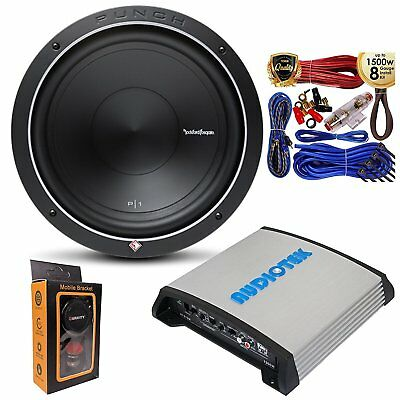 "Rockford Fosgate P1S4-12 Prime SVC 4 Ohm 12"" 500W Sub w/ 1200W Mono Amp and Kit"