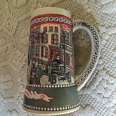 "Miller Beer Stein Great American Achievements Model T, Ceramarte, 7"" H"