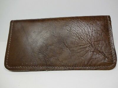 Bay State Exclusive Distressed*  Brown Leather Standard Checkbook Cover-USA Made