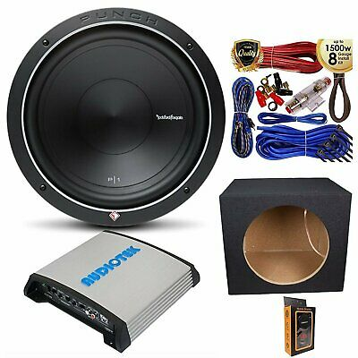 Rockford P1S4-12 Prime SVC 4 Ohm 12� 500W Sub w/ 1200W Mono Amp, Kit and Box