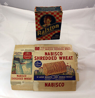 Ralston Wheat Cereal Box - Shreaded Wheat...empty 1930s
