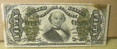 UNITED STATES FRACTIONAL CURRENCY - 3rd ISSUE 50 CENT SPINNER NOTE