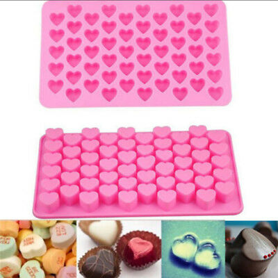 55 Hole Mini Silicone Heart Silicone Chocolate Mold Ice Cube Candy Muffin Mould