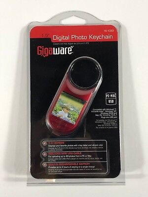 "1.5"" Digital Photo Keychain by Gigaware - Red - Free shipping -"