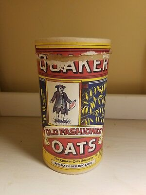 Quaker Old Fashioned Oats Container - Replica Of 1896 Label