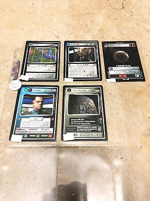 Star Trek CCG Blaze of Glory Lot of 5 Cards