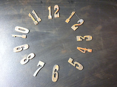 1.5 inch Rough Rusty Metal Vintage Western Number Full Clock Face Set (1-12)