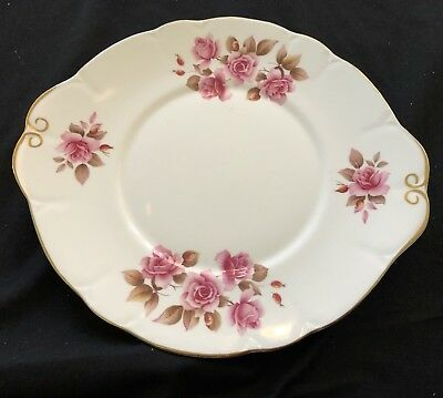 Vintage Duchess Bone China Cake Plate Wth Tab Handles  -  In  Ex. Cond 25.5Cm