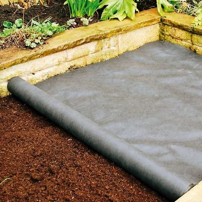 1M & 1.5M Wide 45 & 50GSM Weed Control Fabric GROUND COVER MEMBRANE LANDSCAPE