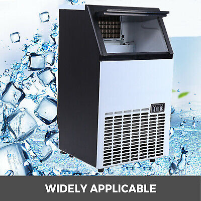 Commercial Ice Cube Maker Machine Auto Built-in Cube Stainless Steel Ice Maker
