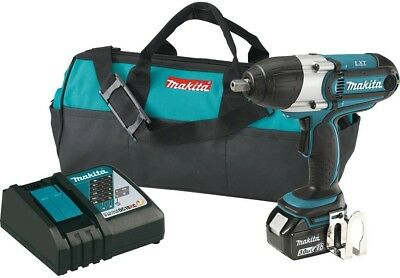 Makita 18-Volt LXT Lithium-Ion Cordless 1/2 in. Impact Wrench Kit with (1) Tool