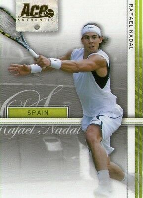 Rafael Nadal 2007 Ace Authentic Tennis Gold Parallel /25