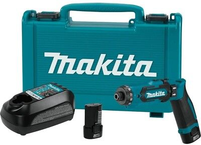 Makita 7.2-Volt Lithium-Ion 1/4 in. Cordless Hex Driver-Drill Kit with Clutch