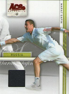 Marat Safin 2007 Ace Authentic Game Used Shirt Card Russia