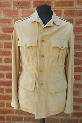 Men S Gucci Sand Suede Leather Safari Jacket Eu 48 Uk Us 38