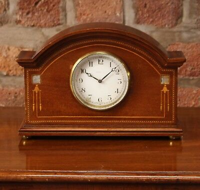 Edwardian Mahogany Timepiece 8-Day Inlaid
