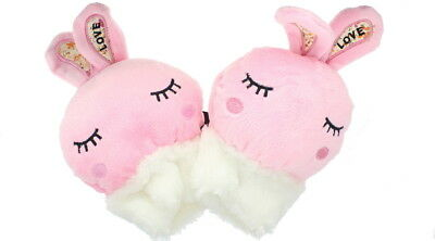 Children Rabbit Fingerless Gloves in Pink - Soft & Fleecy Animal Dress Accessory