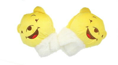 Children Bear Fingerless Gloves in Yellow - Soft & Fleecy Animal Dress Accessory