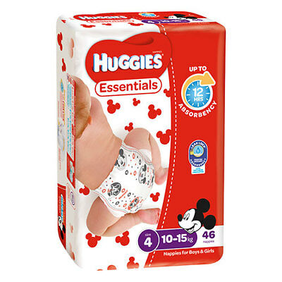 NEW Huggies Essential Stage 4 Toddler - 46 Pack