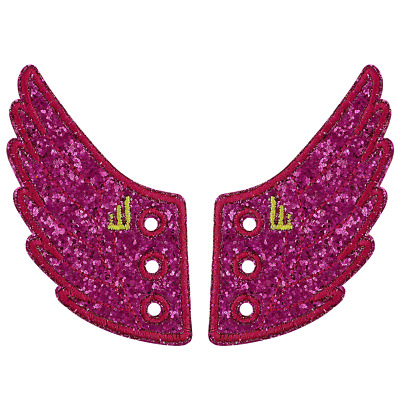 Shwings Wing Accessories For Shoes (Fuschia Sparkle)- 1 pr