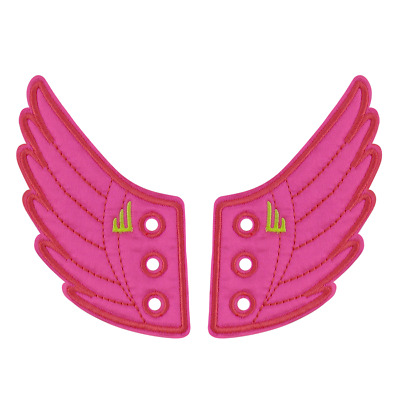 Shwings Wing Accessories For Shoes (Neon Pink)- 1 pr