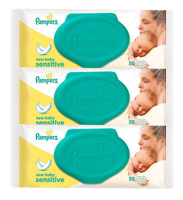 150 Count Pampers Gentle Cleaning Fresh Mild Soft Baby Wipes Sensitive Skin