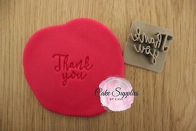 Thank You Fondant Embosser Cookie Stamp