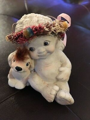 """DREAMSICLES #DC052 """"PUPPY AND ME"""" FIGURINE 1994 Cast Art Industries Inc"""