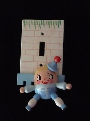 VINTAGE Originals by Irmi: hand painted wood light cover...Humpty Dumpty