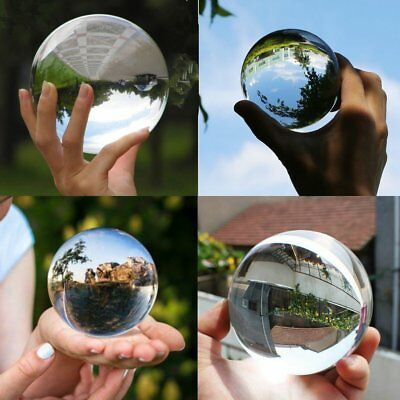 Sphere Crystal Ball 100mm Clear Globe Photography Effect Studio Camera 4inch VIP