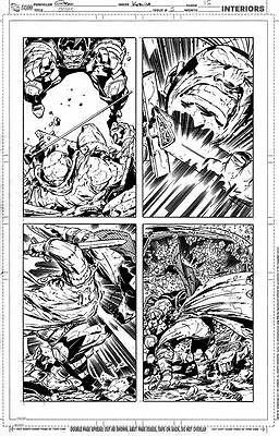 Keith Giffen OMAC 5 pg 15 AWESOME OMAC VS FRANKENSTEIN HUGE PANELS