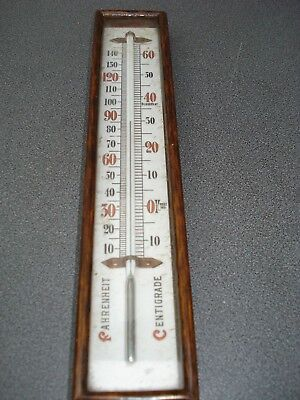 Large 3 Colour  Box Thermometer 255 Mm Long Dark Oak Parts Spares