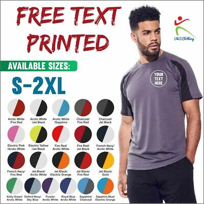 AWDis Personalised Tee Custom Embroidered Contrast Cool Sports Polyester T-Shirt