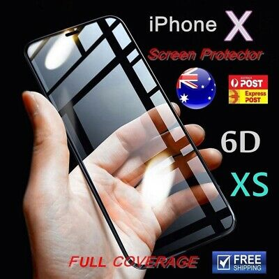 iPhone X / XS XR MAX Tempered Glass Real 6D Screen Protector Full Cover Crystal