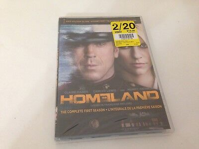 Homeland The Complete First/1st/One/1 Season DVD 4-Disc Box Set NEW Free US Ship