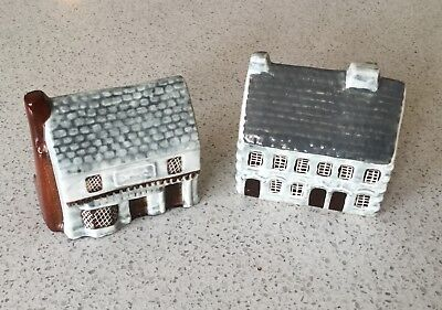 Set of 2 Suffolk Cottages English Porcelain Houses - Made for Around the Corner