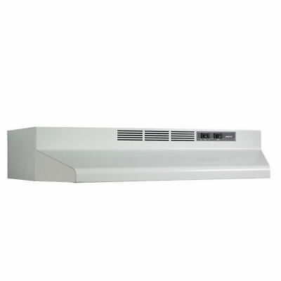 "CONVERTIBLE OVER STOVE RANGE HOOD White 30"" EXHAUST FAN Under Kitchen Cabinet"