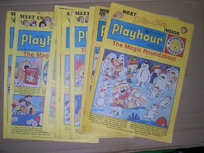 Playhour mixed lot of 10 issues 1975 to 1978 puzzles done