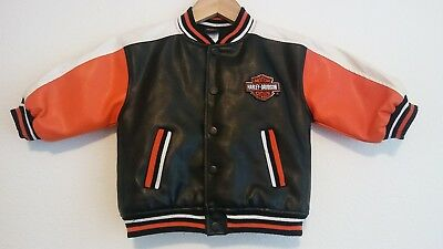 Toddler Harley Davidson Faux Leather Motorcycle Jacket size 18M 18 Month