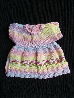 Baby clothes GIRL premature/tiny<4lbs/1.8kg professionally knit dress SEE SHOP!
