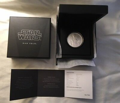 2016 Niue Han Solo Star Wars Disney 1 Oz. .999 Silver Proof Coin w/OGP & COA